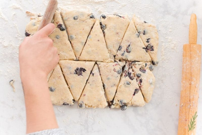Blueberry-Lemon Scones with Lemon Glaze