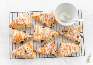 Sense & Edibility's Blueberry-Lemon Scones with Lemon Glaze