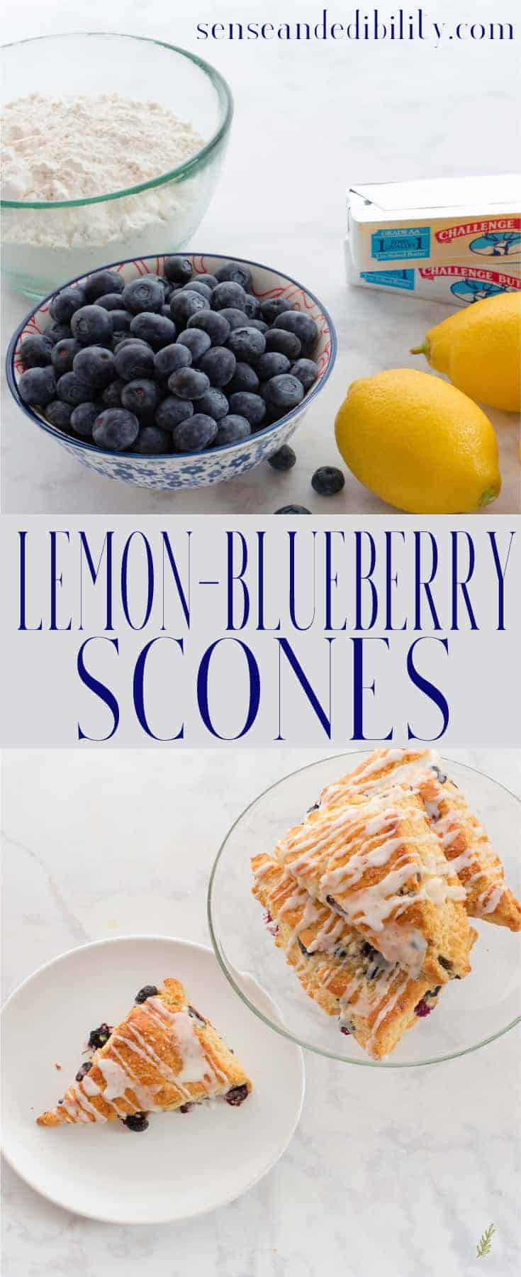Blueberry-Lemon Scones with Lemon Glaze Pin