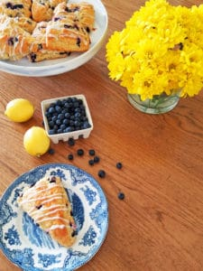 Sense & Edibility's Lemon-Blueberry Scones