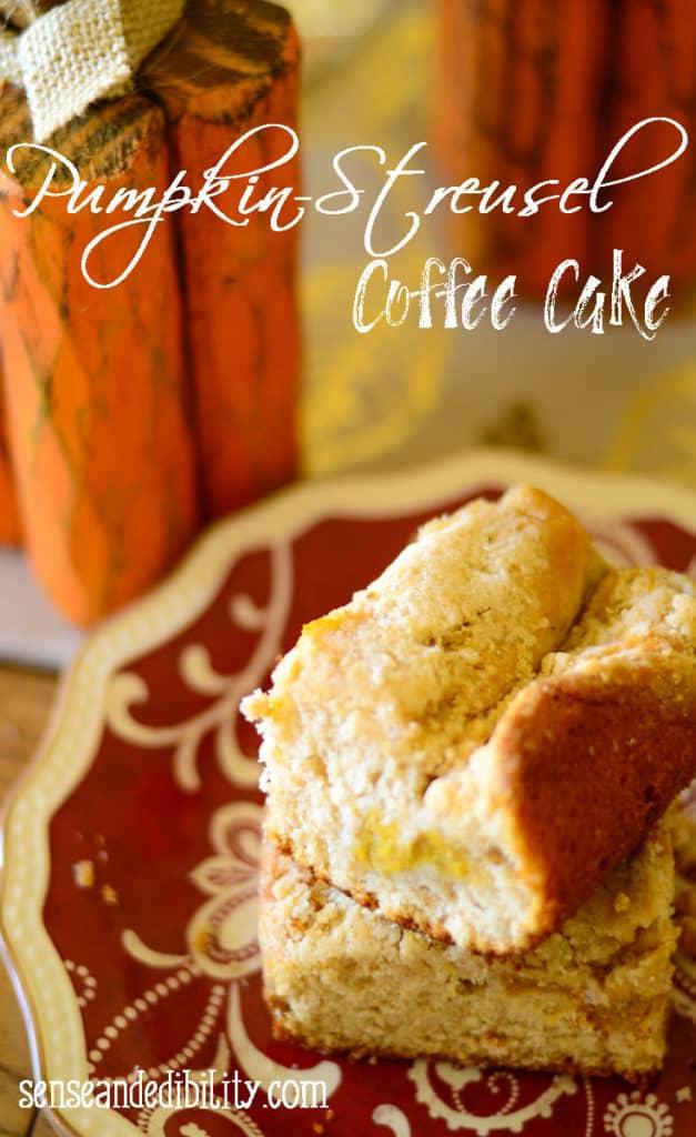 Sense & Edibility's Pumpkin Streusel Coffee Cake