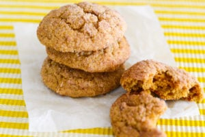A stack of Pumpkin Spice Snickerdoodles