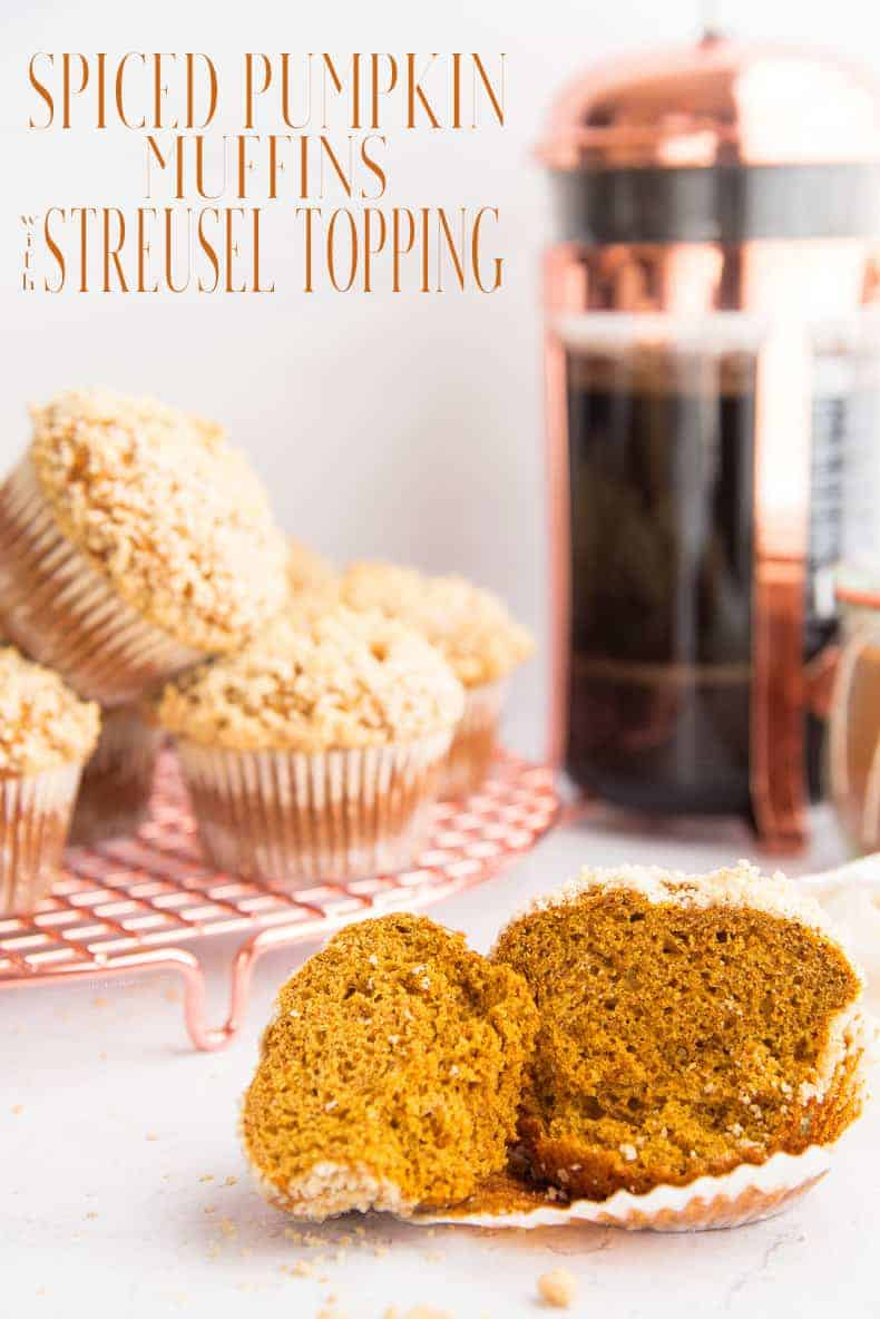 Pumpkin Spice Muffins are made even better with a fresh spice blend and a buttery streusel topping. Enjoy yours warm from the oven. #muffins #breakfast #pumpkinspiceblend #pumpkinmuffins #spicemuffin #baking #bakingmuffins #fallmuffins #fallrecipes #easybreakfast #kidfriendly #streuseltopping #streusel #vegetarian  via @ediblesense