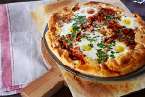 Sense and Edibility Shakshuka in Crostata