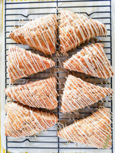 Sense & Edibility's Banana Oatmeal Scones with Maple Glaze