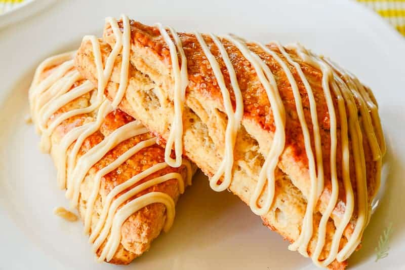 Sense & Edibility's Banana Oatmeal Scones with Maple Glaze