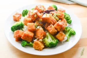 "General Tso's Vegan ""Chicken"": A Flashback"