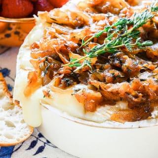 Sense & Edibility's Brie with Caramelized Onion