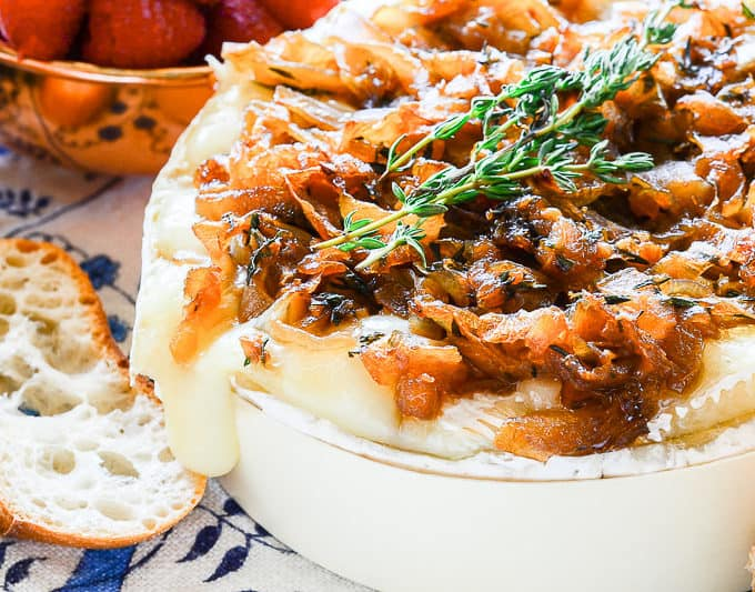 Sense & Edibility's Brie with Caramelized Onion