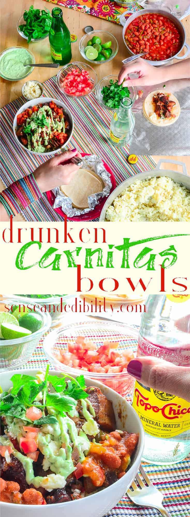 Sense & Edibility's Carnitas Bowl