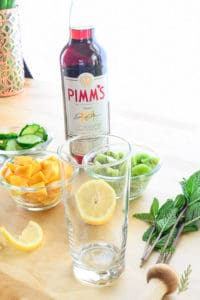 Tropical Pimm's Cup Cocktail