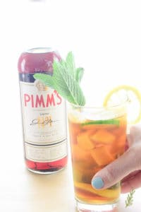 Sense and Edibility's Tropical Pimm's Cup Cocktail