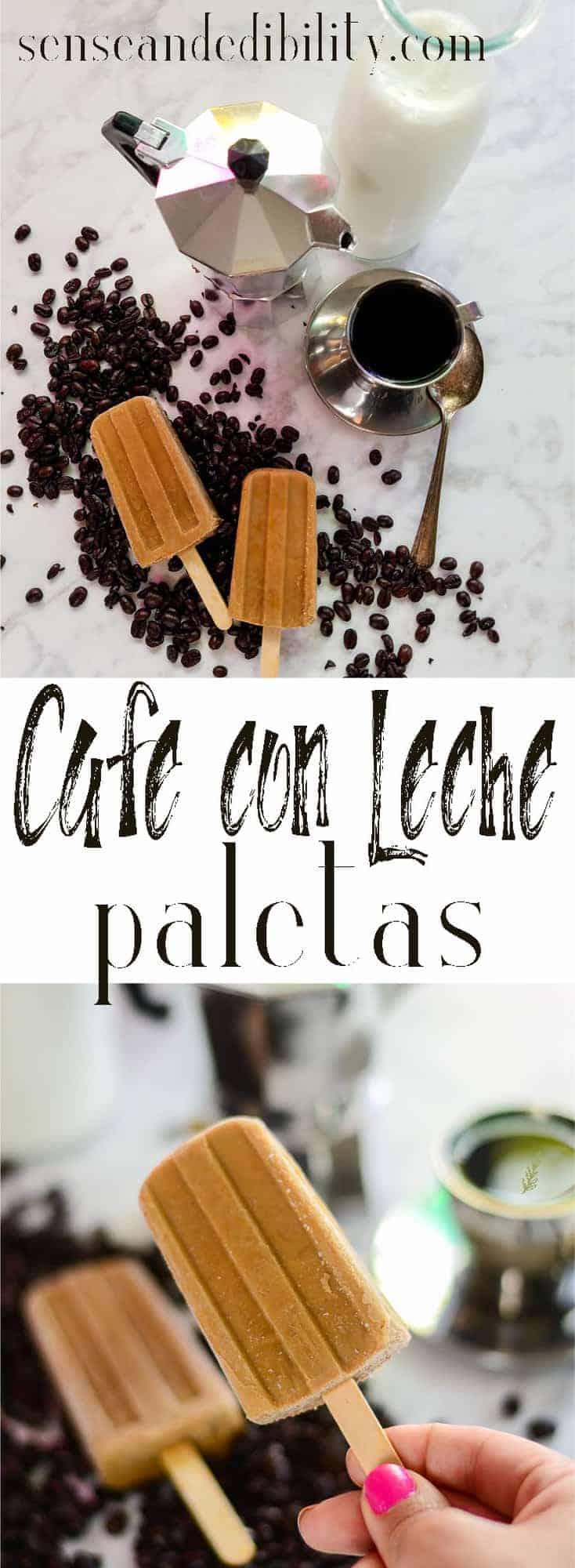 Sense & Edibility's Cafe con Leche Paletas Pin