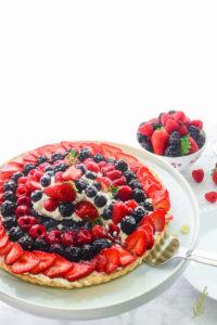 Sense & Edibility's Mascarpone-Vanilla Berry Tart