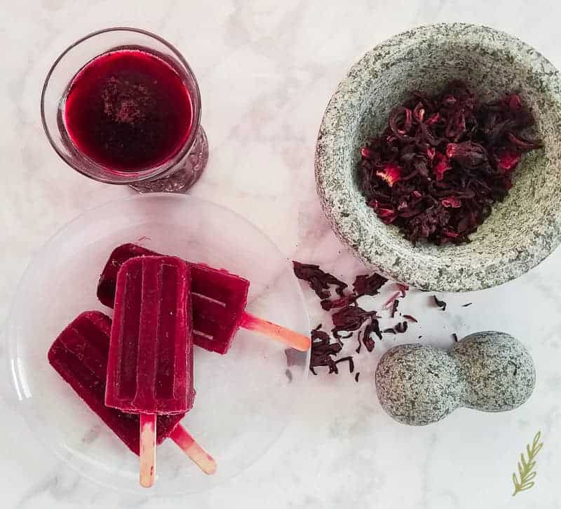 Sense & Edibility's Hibiscus, Blood Orange & Cardamom Paletas
