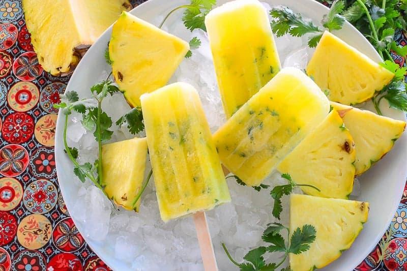 Sense & Edibility's Pineapple Cilantro Paletas