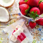 Sense & Edibility's Strawberry-Coconut Popsicles
