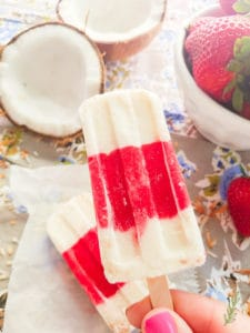Sense & Edibility's Strawberry-Coconut Popsicles