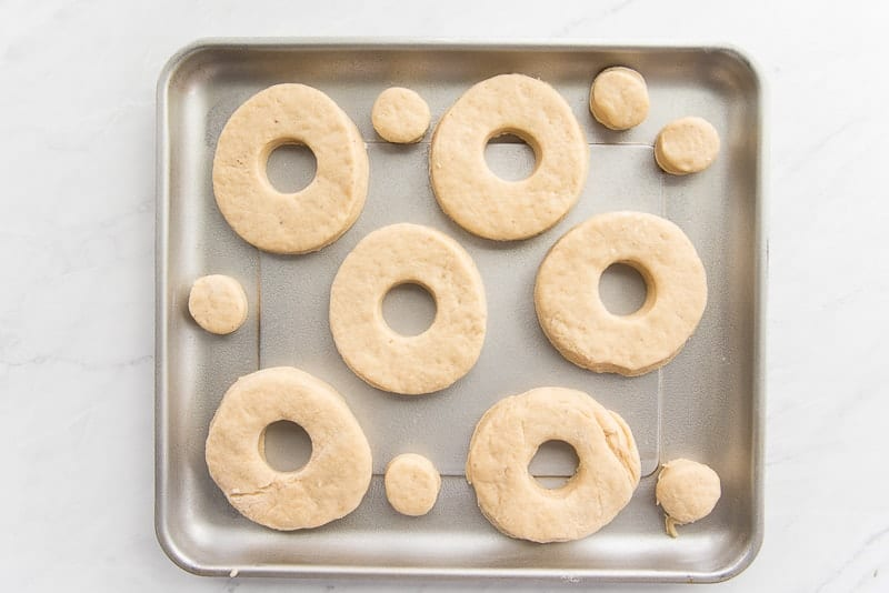Easy Cake Donuts on a pan for Air-Frying