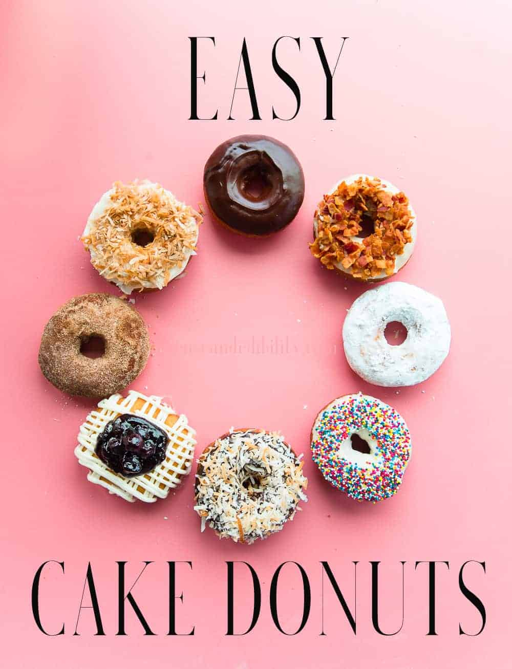 It's time to make the donuts! At home...in fuzzy slippers. See how Easy it is to make the best Cake Donuts at home. Load them with your favorite toppings and create new combinations. Freezer- and make-ahead friendly. #cakedonuts #frieddough #doughnuts #cakedoughnuts #donuttoppings #donutbar #breakfast #brunch #dessert #donutrecipe #donutsfromscratch #homemadedonuts  via @ediblesense