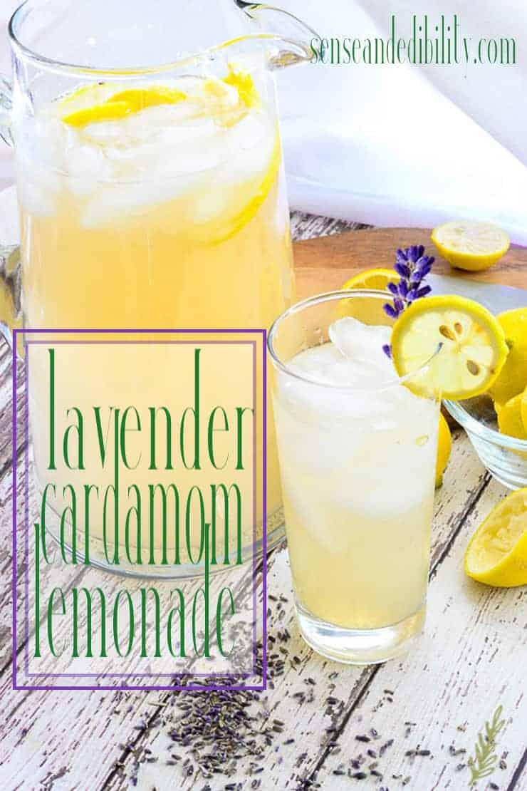 Sense & Edibility's Lavender-Cardamom Lemonade