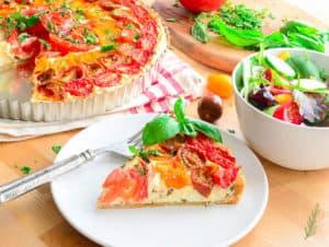 Sense & Edibility's Chèvre and Tomato Tart