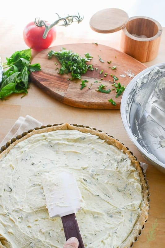 Sense & Edibility's Chevre and Tomato Tart