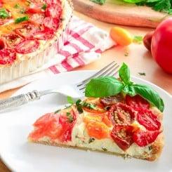 Sense & Edibility's Chevre and Tomato Tart
