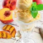 Sense & Edibility's Grilled Peach Buttermilk Frozen Custard