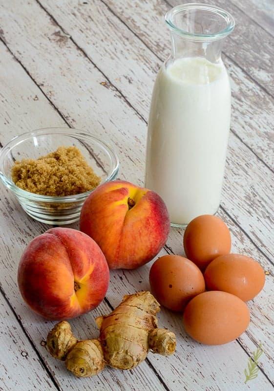 Sense & Edibility's Grilled Peach Buttermilk Frozen Custard