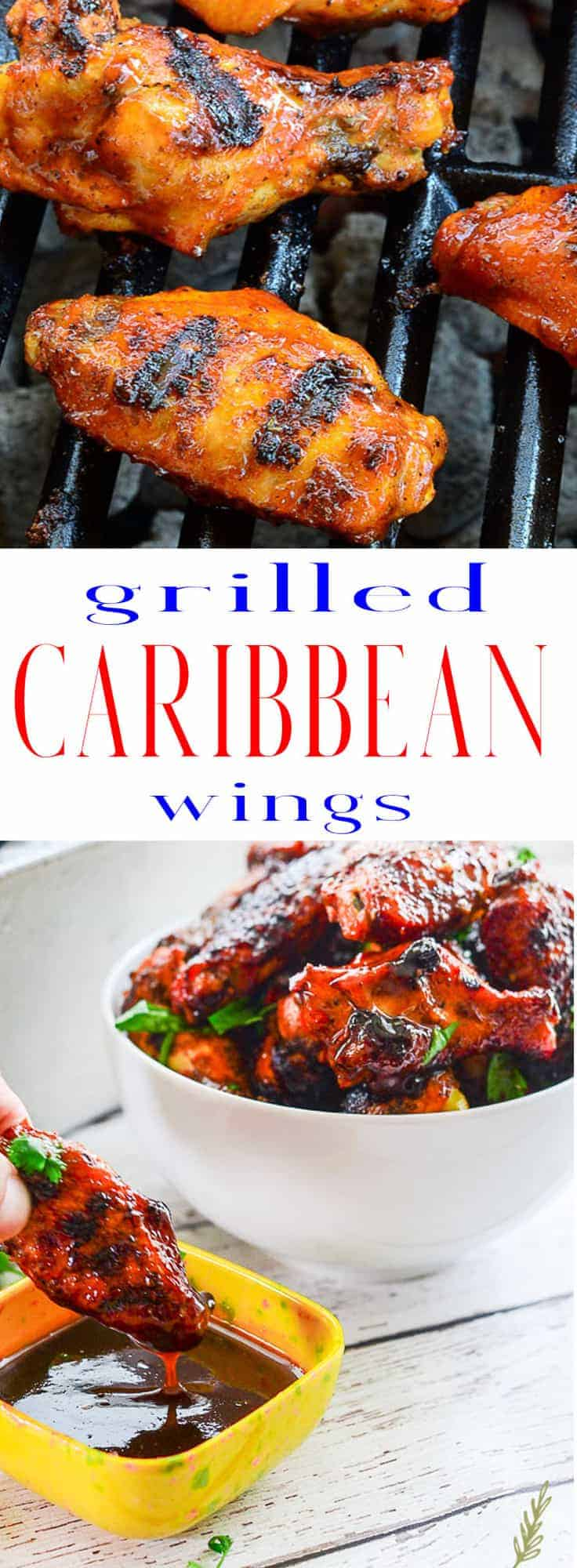 Sense & Edibility's Grilled Caribbean Wings Pin