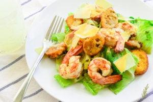 Grilled Cesar Salad with Shrimp