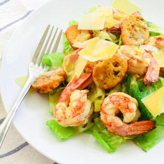 Sense & Edibility's Grilled Cesar Salad with Shrimp