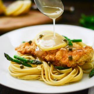 Sense & Edibility's Chicken Piccata with Asparagus