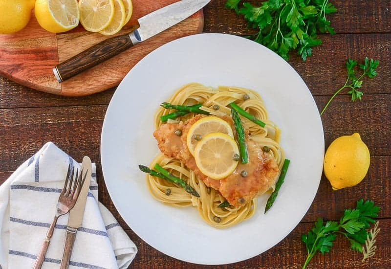Sense & Edibility's Chicken Piccata with Asparagus
