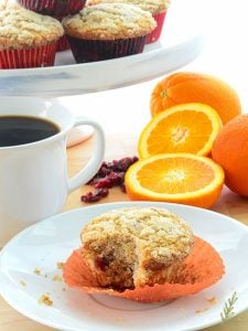 Cranberry-Orange Muffins with Streusel Topping