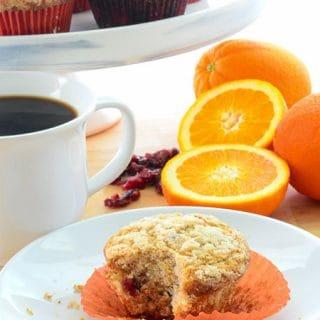 Sense & Edibility's Cran-Orange Muffins