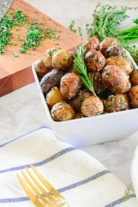 Crispy Baby Potatoes with Garlic and Fresh Herbs