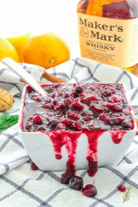 A bowlful of Boozy Cranberry Sauce