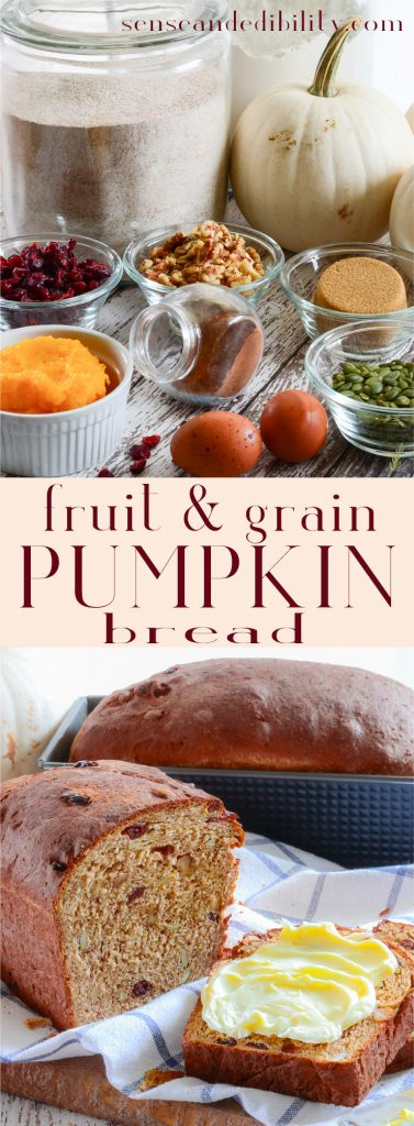 Sense & Edibility's Fruit and Nut Pumpkin Bread Pin