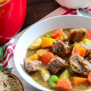 Harvest Pork Stew with Butternut Squash and Pumpkin