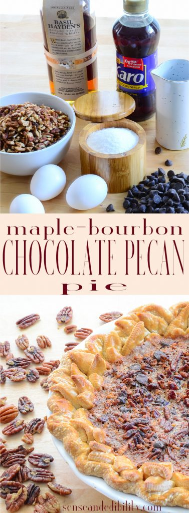 Sense & Edibility's Maple Bourbon Chocolate Pecan Pie Pin