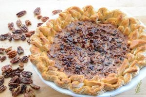 Maple Bourbon Chocolate Pecan Pie