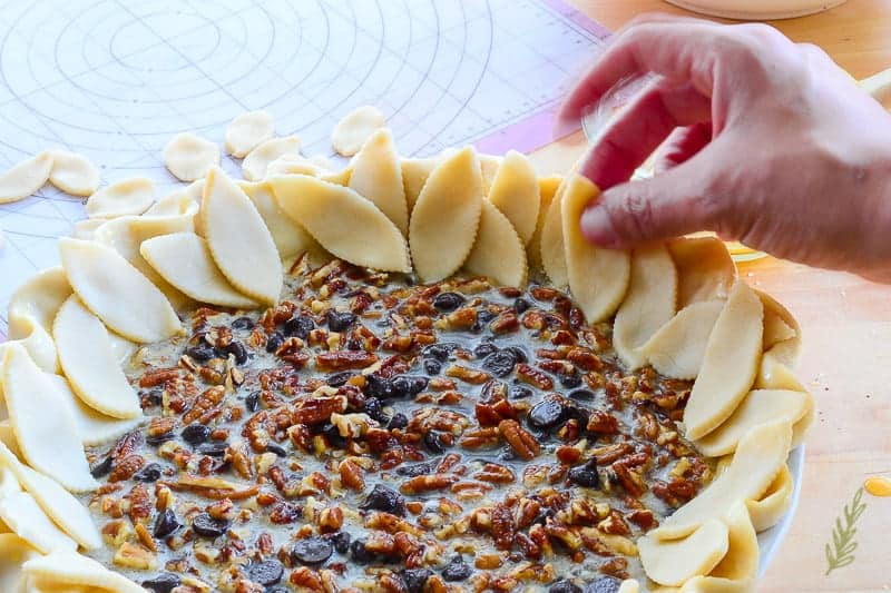 Sense & Edibility's Maple Bourbon Chocolate Pecan Pie