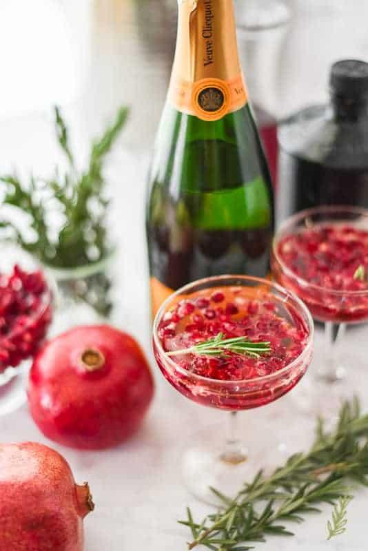 Sense & Edibility's Pomegranate-Rosemary Sparkler