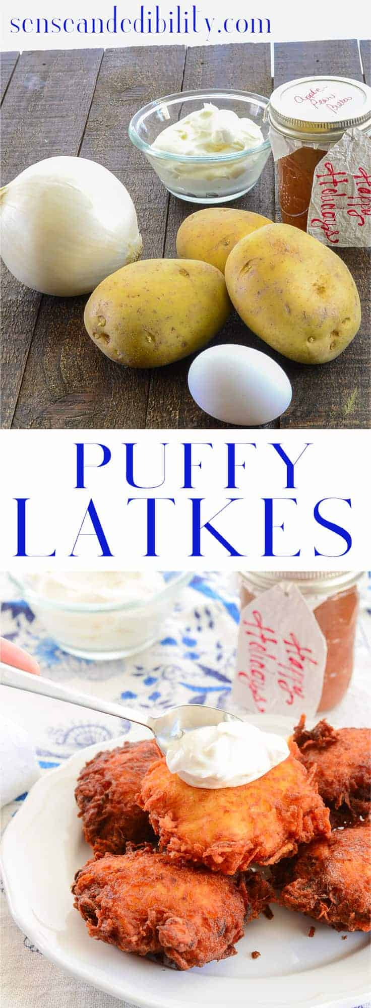 Sense & Edibility's Puffy Latkes Pin