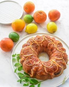 Caramelized Citrus topped Ginger Sour Cream Coffee Cake