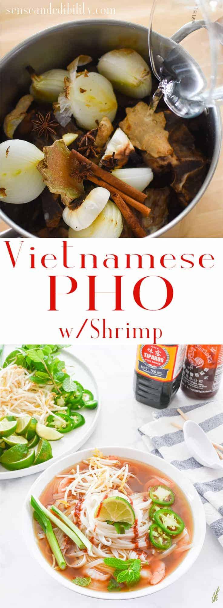 Sense & Edibility's Shrimp Pho Pin