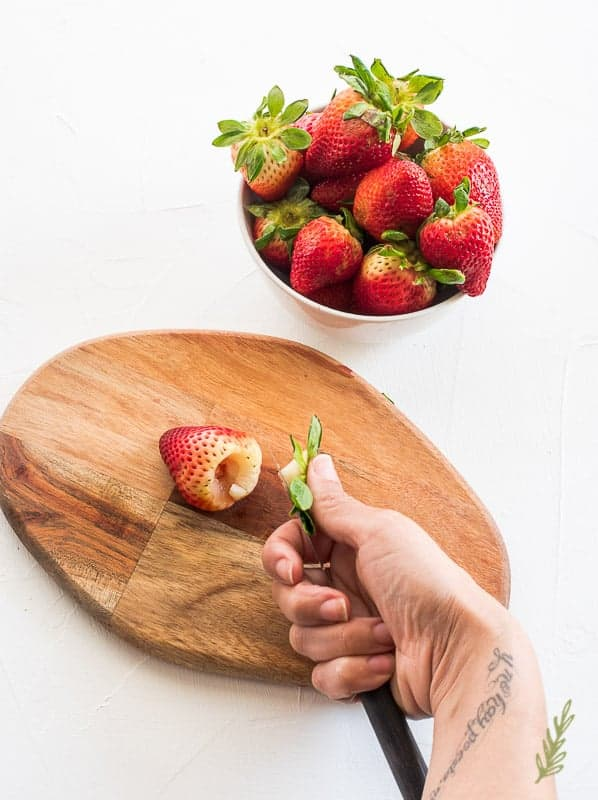 Sense & Edibility's Cardamom Strawberry Frozen Custard