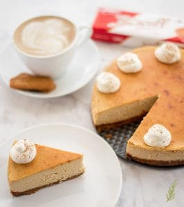 Sense & Edibility's Espresso Cheesecake with Biscoff Crust